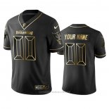 Camiseta NFL Limited Tampa Bay Buccaneers Personalizada Golden Edition Negro