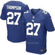 Camiseta New York Giants Thompson Azul Nike Elite NFL Hombre