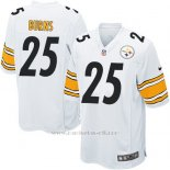 Camiseta Pittsburgh Steelers Burns Blanco Nike Game NFL Nino
