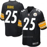 Camiseta Pittsburgh Steelers Burns Negro Nike Game NFL Nino