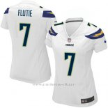 Camiseta San Diego Chargers Flutie Blanco Nike Game NFL Mujer