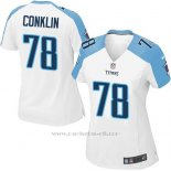 Camiseta Tennessee Titans Conklin Blanco Nike Game NFL Mujer
