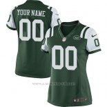 Camisetas NFL Limited Mujer New York Jets Personalizada Verde