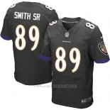 Camiseta Baltimore Ravens Smith Sr Nike Elite NFL Negro Hombre