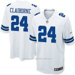 Camiseta Dallas Cowboys Claiborne Blanco Nike Game NFL Nino