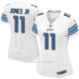 Camiseta Detroit Lions Jones Jr Blanco Nike Game NFL Mujer