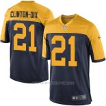 Camiseta Green Bay Packers Clinton Dix Negro Nike Game NFL Amarillo Hombre