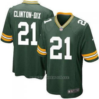 Camiseta Green Bay Packers Clinton Dix Verde Nike Game NFL Militar Nino