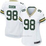 Camiseta Green Bay Packers Guion Blanco Nike Game NFL Mujer