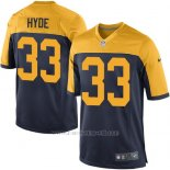 Camiseta Green Bay Packers Hyde Negro Amarillo Nike Game NFL Nino