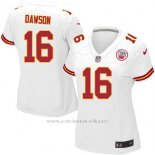 Camiseta Kansas City Chiefs Dawson Blanco Nike Game NFL Mujer