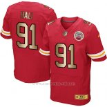 Camiseta Kansas City Chiefs Hali Rojo Nike Gold Elite NFL Hombre