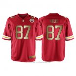 Camiseta Kansas City Chiefs Kelce Rojo Nike Gold Game NFL Hombre