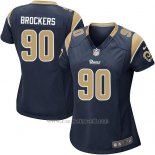 Camiseta Los Angeles Rams Brockers Negro Nike Game NFL Mujer
