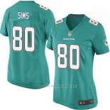 Camiseta Miami Dolphins Sims Verde Nike Game NFL Mujer