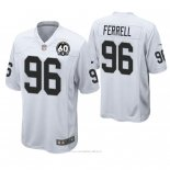 Camiseta NFL Game Hombre Oakland Raiders Clelin Ferrell 60th Aniversario Blanco