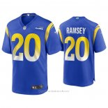 Camiseta NFL Game Los Angeles Rams 20 Jalen Ramsey Azul