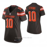 Camiseta NFL Game Mujer Cleveland Browns Jaelen Strong Marron