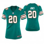 Camiseta NFL Game Mujer Miami Dolphins Reshad Jones Throwback Verde