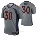 Camiseta NFL Legend Denver Broncos Terrell Davis Inverted Gris