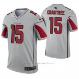 Camiseta NFL Legend Hombre Arizona Cardinals Michael Crabtree Inverted Gris
