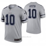 Camiseta NFL Legend Hombre Dallas Cowboys 10 Tavon Austin Inverted Gris