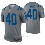 Camiseta NFL Legend Hombre Indianapolis Colts 40 Spencer Ware Inverted Gris
