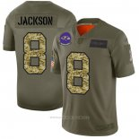 Camiseta NFL Limited Baltimore Ravens Jackson 2019 Salute To Service Verde