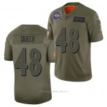 Camiseta NFL Limited Baltimore Ravens Patrick Queen 2019 Salute To Service Verde