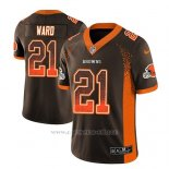 Camiseta NFL Limited Hombre Cleveland Browns Denzel Ward Marron 2018 Drift Fashion Color Rush