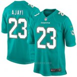 Camiseta NFL Limited Hombre Miami Dolphins 23 Jay Ajayi Aqua Game Verde