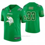 Camiseta NFL Limited Hombre Minnesota Vikings Dalvin Cook St. Patrick's Day Verde