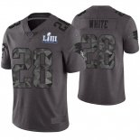 Camiseta NFL Limited Hombre New England Patriots James White Gris Super Bowl LIII