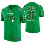 Camiseta NFL Limited Hombre New England Patriots Sony Michel St. Patrick's Day Verde