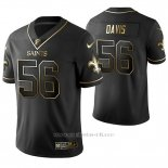 Camiseta NFL Limited Hombre New Orleans Saints Demario Davis Golden Edition Negro