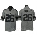 Camiseta NFL Limited Hombre New York Giants 26 Orleans Darkwa Gris