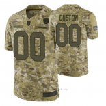 Camiseta NFL Limited Las Vegas Raiders Personalizada Salute To Service Verde
