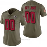 Camiseta NFL Limited Mujer Atlanta Falcons Personalizada 2017 Salute To Service Verde