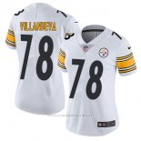 Camiseta NFL Limited Mujer Pittsburgh Steelers 78 Villanueva Blanco