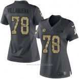 Camiseta NFL Limited Mujer Pittsburgh Steelers 78 Villanueva Gris