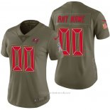 Camiseta NFL Limited Mujer Tampa Bay Buccaneers Personalizada 2017 Salute To Service Verde