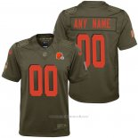 Camiseta NFL Limited Nino Cleveland Browns Personalizada Salute To Service Verde