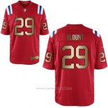 Camiseta New England Patriots Blount Rojo Nike Gold Game NFL Hombre