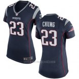 Camiseta New England Patriots Chung Negro Nike Game NFL Mujer