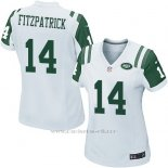 Camiseta New York Jets Fitzpatrick Blanco Nike Game NFL Mujer