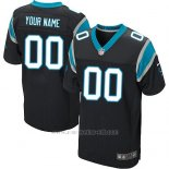 Camisetas NFL Elite Hombre Carolina Panthers Personalizada Negro