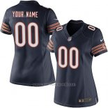 Camisetas NFL Limited Mujer Chicago Bears Personalizada Azul