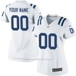 Camisetas NFL Limited Mujer Indianapolis Colts Personalizada Blanco
