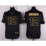Camiseta Arizona Cardinals Brown Negro Nike Elite Pro Line Gold NFL Hombre