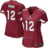 Camiseta Arizona Cardinals Brown Rojo Nike Game NFL Mujer